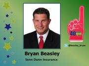 Why selected: Bryan Beasley -- a business insurance consultant at Senn Dunn Insurance -- is an emerging leader in the insurance industry, particularly among nonprofits. Away from work, he serves numerous charitable activities, including the Handy Capable Network and Victory Junction.