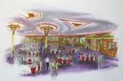 A rendering of the Carl H. Lindner Grand Ballroom at the new Waterfront.