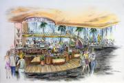 A rendering of the lounge and bar area at the Waterfront.