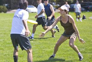 Women regularly play in Ultimate pickup games like this one at Greer Park in Palo Alto, California, as well as at the elite club levels, but they aren't part of the two pro leagues that have launched in the past few years.