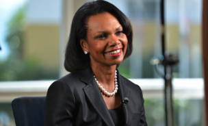 Condoleezza Rice, professor of political science at Stanford University and former secretary of state, speaks during a Bloomberg Television interview at the Everest Capital Emerging Market Forum, in Miami, Florida, U.S., on Thursday, March 7, 2013. Rice served as secretary of state under President George W. Bush from 2005-2009