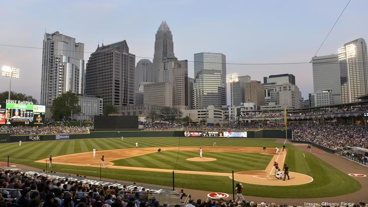 The stands were filled Friday night for the Charlotte Knights' first game in BB&T Ballpark.