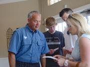 Chef John Rivers was on hand during the friends and family lunch to give tours and menu recommendations.