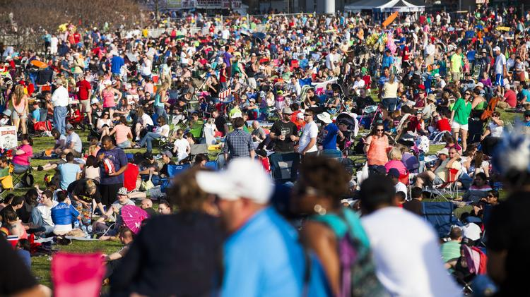 Thunder Over Louisville officials said attendance Saturday was around 650,000 to 700,000.