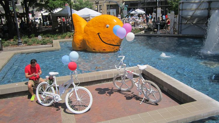 This giant goldfish was a crowdpleaser.