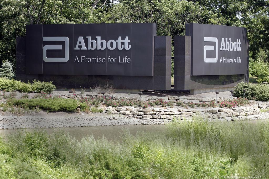 Signage For Abbott Laboratories Stands At The Companys Headquarters In Park