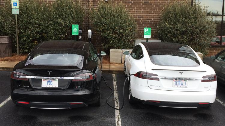 The new EV charging stations at the Phillips Collection headquarters are available for use by the public for free.