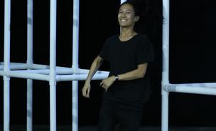 Alexander Wang is doing a collaboration with H&M. He is shown here greeting the audience after presenting his own label's Spring 2014 fashion show during Mercedes-Benz Fashion Week in New York City on September 7, 2013.