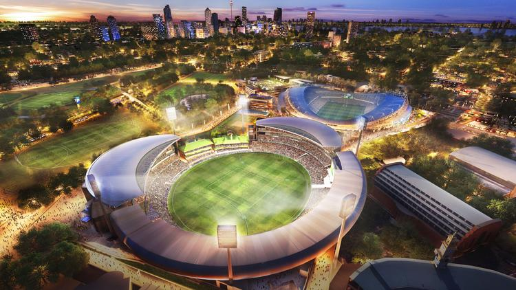 An architectural rendering shows the more than $800 million redevelopment project underway at the Sydney Cricket & Sports Ground Trust, which will include Sporting Innovations' fan engagement platform.