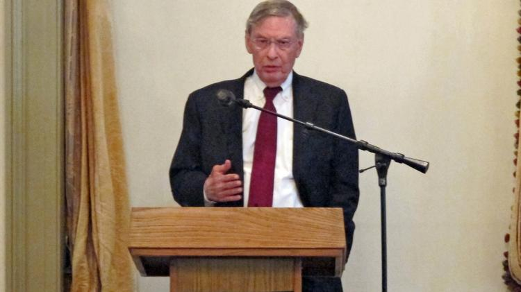 Baseball commissioner Bud Selig addressed the Greater Milwaukee Committee Monday in downtown Milwaukee.