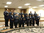 A group from the West End Boys and Girls Choirs performed before The Fillies Derby Ball.