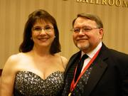 Fillies member Debra Rayman attended the ball with her husband, Mitch Rayman, vice president of PNC Bank. Debra Rayman is the career services coordinator at Galen College. Mitch is a knight of the royal court for the Fillies.Their daughter, now Rebecca Spanos, was a princess in 2004.