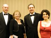 Attending The Fillies Derby Ball were: David Sivinski, left, owner of Lovers Leap Vineyards & Winery, the wine sponsor of the ball; his wife, Patty Sivinski; John Hays, a member of Jackson Kelly; and Judge Tamra Gormley.