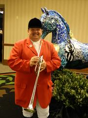 Steve Buttleman, official bugler of Churchill Downs, was on hand to announce the start of The Fillies Derby Ball.