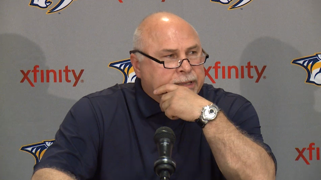 Barry Trotz during his farewell news conference.