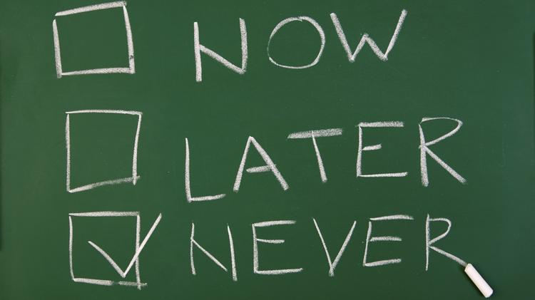 Now Later Never