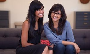 Shilpa Shah, left, and Karla Gallardo are the cofounders of Cuyana, an e-commerce clothing and accessories startup with a direct-to-consumer business model that just partnered with Real Simple on a clothing line.