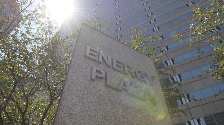 The Energy Future Holdings downtown headquarters in downtown Dallas.