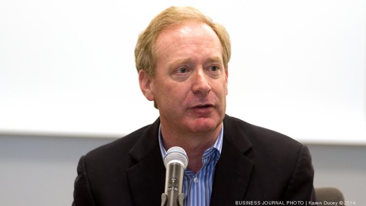 """Brad Smith, Executive Vice-President and General Counsel at Microsoft,  speaks on a panel discussion at the University of Washington titled """"Protecting Privacy and National Security in the Digital Age""""."""