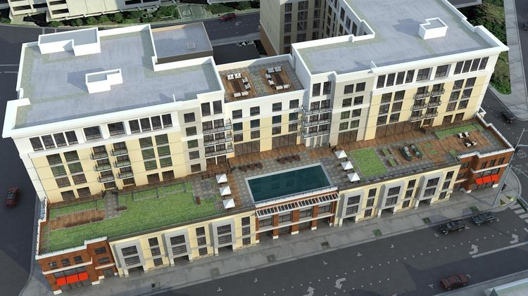 Lennar Multifamily started construction on a 196-unit apartment building in downtown Redwood City known as Marshall & Main.