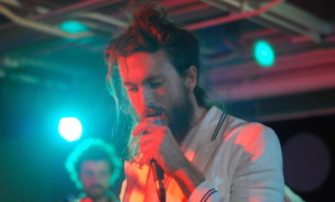 Alex Ebert, lead singer of Edward Sharpe and the Magnetic Zeros.