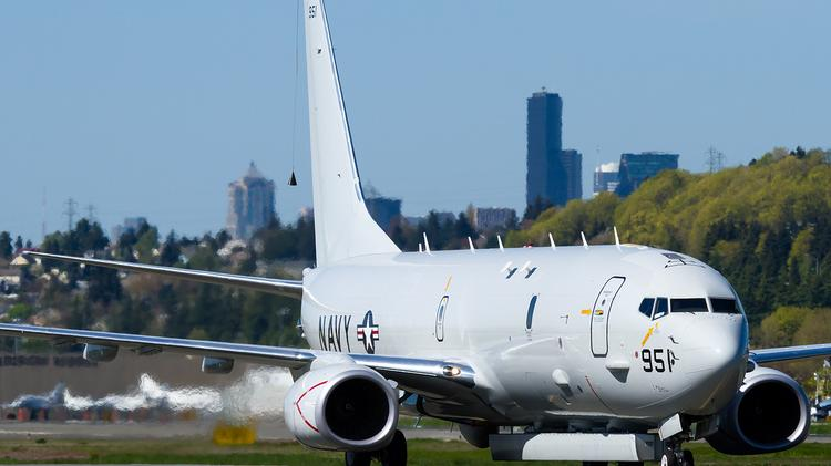 Slung under a Boeing-built U.S. Navy P-8A, the Advanced Airborne Sensor radar system gives the aircraft much greater ability to coordinate military responses.