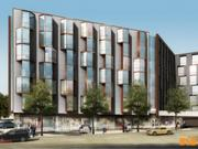 This rendering shows the back of the building that fronts 14th Street off of Church Street.
