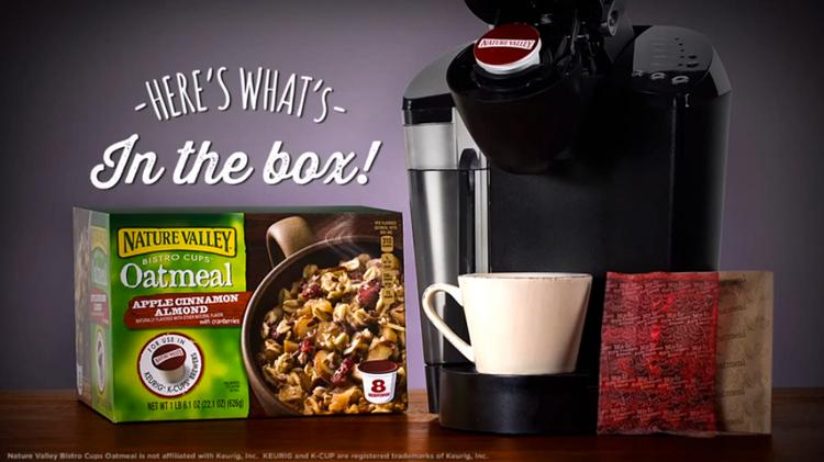 An image from Nature Valley's YouTube introduction to its Keurig-ready Bistro Cups.