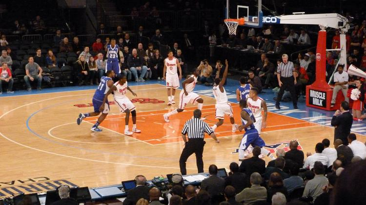 St. John's men's basketball team plays against Seton Hall at Madison Square Garden in a Big East contest.