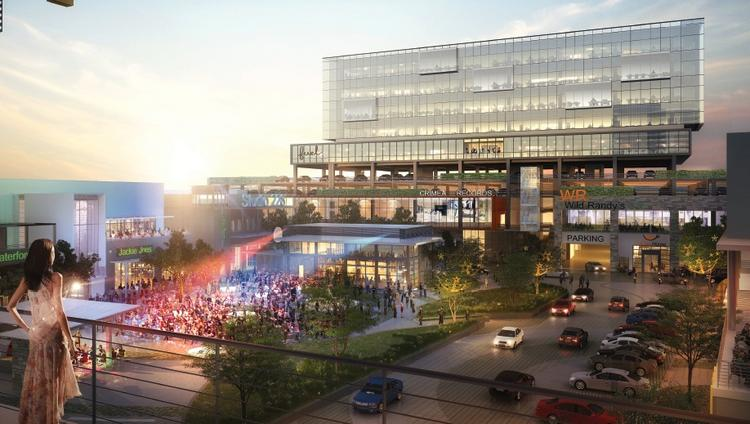 The Ark Group of Charlotte plans a mix of entertainment space, offices, retail and restaurants at The Music Factory in Irving, Texas.