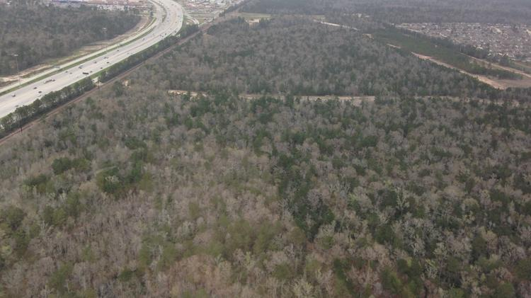A bird's eye view of the Camp Strake property near Conroe and owned by Johnson Development Corp.