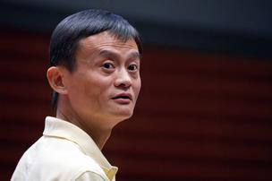 Jack Ma, chairman of Alibaba Group Holding, speaks during a keynote speech at the China 2.0: Transforming Media and Commerce conference in Stanford, California, U.S., on Friday, Sept. 30, 2011.