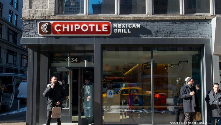 Chipotle's co-CEOs tookhome a combined $58 million last year. Photographer: Craig Warga/Bloomberg