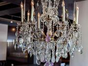 Patrons see this chandelier when they enter Second Story Liquor Bar in Old Town Scottsdale.
