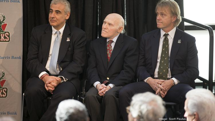 Marc Lasry and Wesley Edens with Herb Kohl