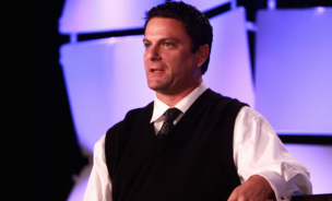 Ladar Levison, founder of Lavabit, speaking at the 2013 Liberty Political Action Conference (LPAC) in Chantilly, Virginia.