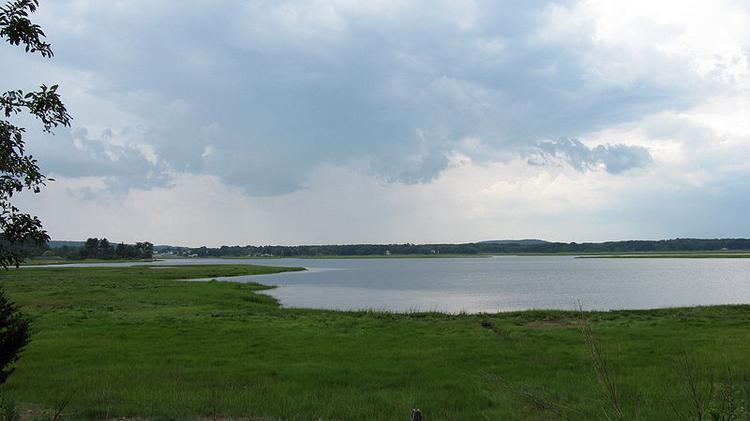 The Eagle Hill River in Ipswich empties into Plum Island Sound.