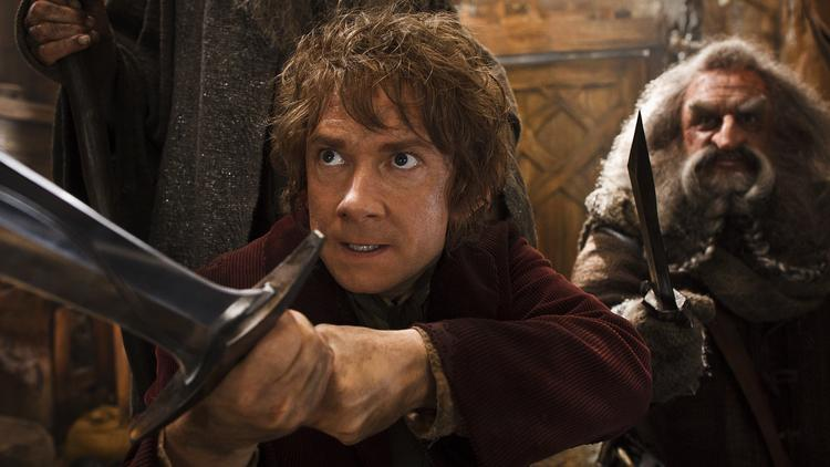 """The Hobbit: The Desoloation of Smaug"" ranked first in both overall disc and Blu-ray sales last week."