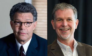The Democratic Senator of Minnesota, Al Franken (left) yesterday sent Reed Hastings, the chief executive of Netflix a letter asking him to take a stance on the Comcast-Time Warner Cable merger.