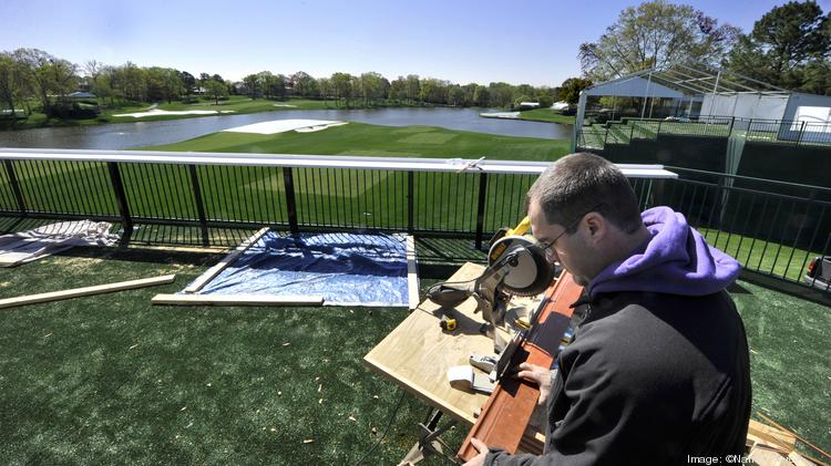 The Green Mile is being prepared for the Wells Fargo Championship.