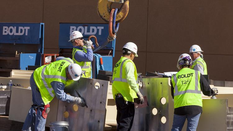 Texas gained construction jobs due to its growing economy.