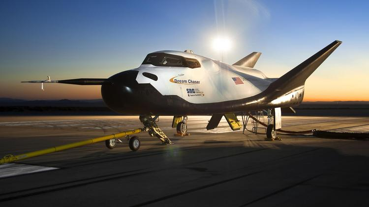 A test flight version of the Dream Chaser space plane being built by Louisville-based Sierra Nevada Corp. Space Systems.