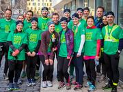 The Genzyme team planning to run on Monday has 30 athletes raising money for the company's signature cause, helping people with rare diseases.