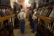 The store will offer a wide variety of firearms, which typically represent about half of sales.