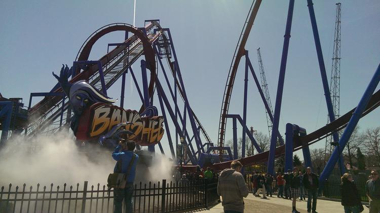 Kings Island's Banshee is the world's longest inverted coaster, and it features seven inversions, 208 feet in elevation change and 4,124 feet of track.