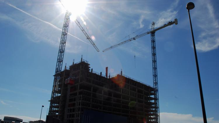 The Uptown area of Dallas has seen an increase in construction.