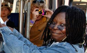 Whoopi Goldberg hosts Universal's Studio Tour.