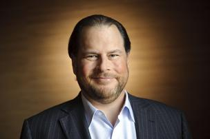Marc Benioff has hit his self-imposed goal of raising $10 million from a range of tech companies to fight poverty.