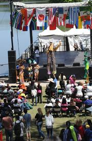 The Atlanta Caribbean Carnival performed on the International Stage.