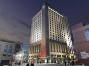 A rendering of White Lodging Service Corp.'s dual branded Hyatt Place and Hyatt House at 14th and Glenarm Streets.